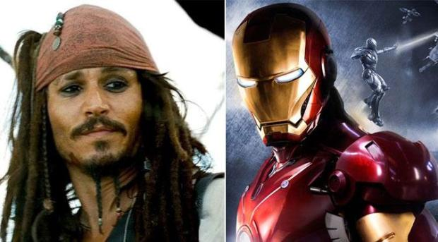 Jack Sparrow dan Iron Man