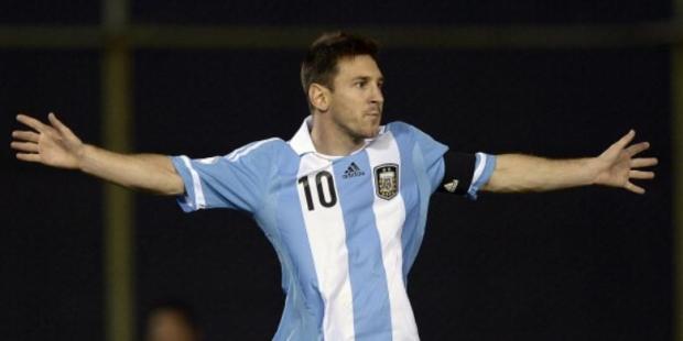 Striker tim nasional Argentina, Lionel Messi.
